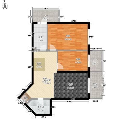 怡清园2室0厅1卫1厨94.00㎡户型图