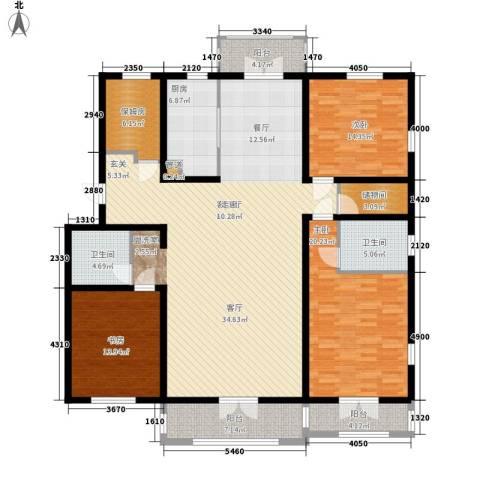 V特区3室1厅2卫1厨172.00㎡户型图