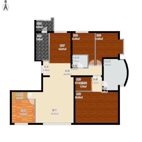 本家润园4室1厅2卫2厨238.00㎡户型图