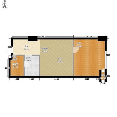 新玛特广场1室0厅1卫0厨62.00㎡户型图