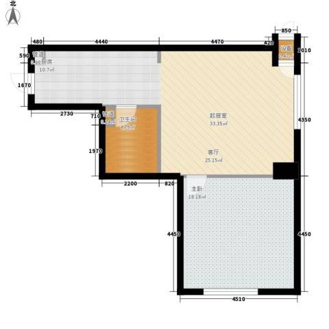 新玛特广场1室0厅1卫0厨74.00㎡户型图
