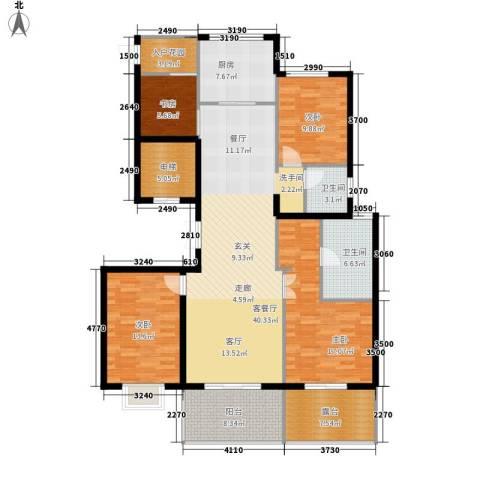 新中国际4室1厅2卫1厨143.00㎡户型图