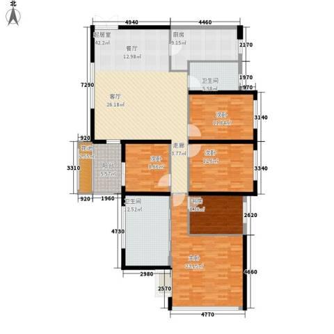阳光城领海5室0厅2卫1厨158.00㎡户型图