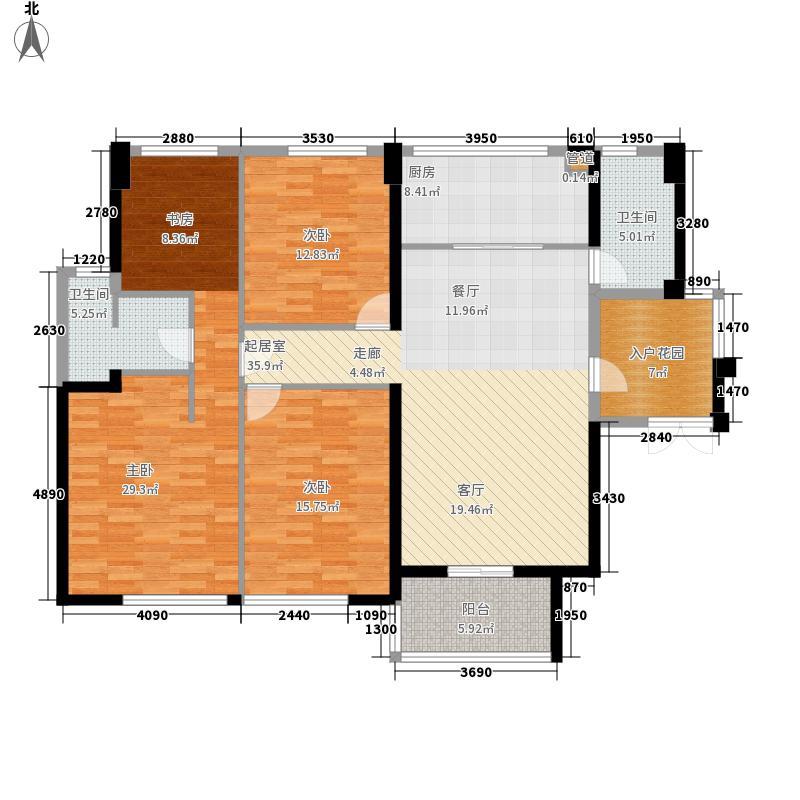 阳光城领海141.00㎡阳光城领海户型图2#、6#楼C2户型图C24室2厅2卫1厨户型4室2厅2卫1厨