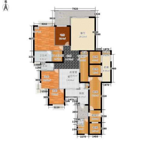 中海观园国际4室0厅3卫1厨240.00㎡户型图
