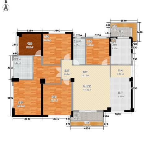阳光城领海5室0厅2卫1厨174.00㎡户型图