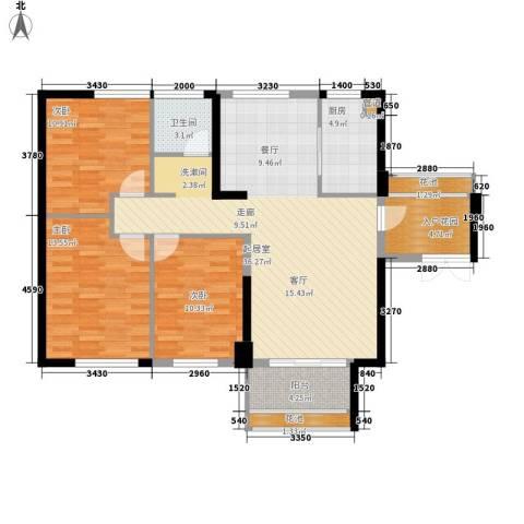 阳光城领海3室0厅1卫1厨103.00㎡户型图