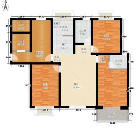 紫光华庭・丽华苑3室1厅2卫0厨128.00㎡户型图