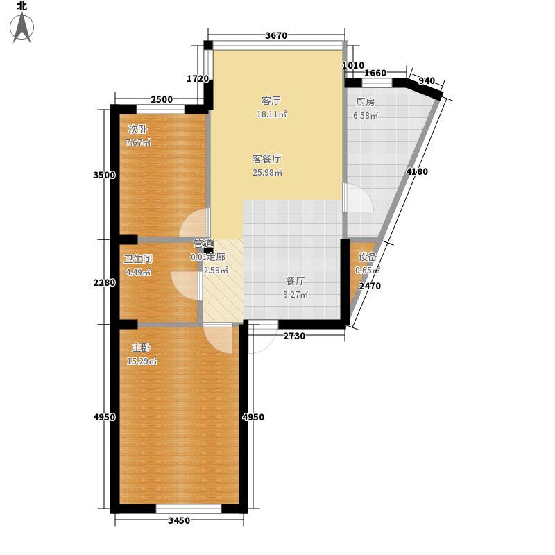 城建梦翔之家B区83.00㎡城建梦翔之家B区2室户型2室