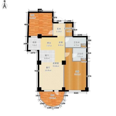 海御192室0厅2卫0厨143.00㎡户型图