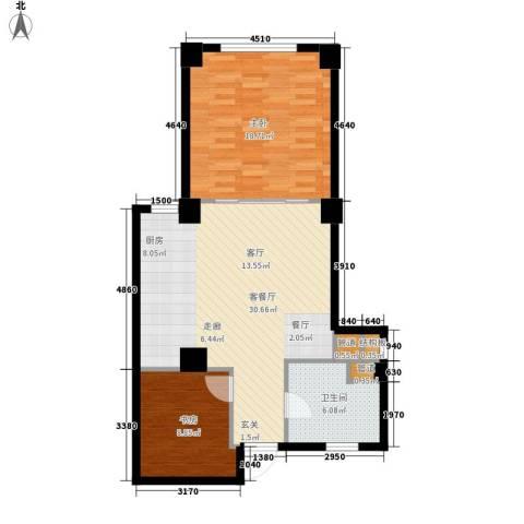 海御192室1厅1卫0厨88.00㎡户型图