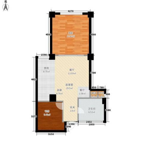 海御192室0厅1卫0厨88.00㎡户型图
