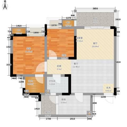 金悦湾2室0厅1卫1厨72.00㎡户型图