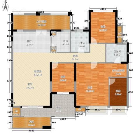 万科金御华府4室0厅2卫1厨164.00㎡户型图