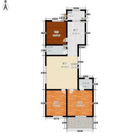 金圣甲第3室0厅2卫1厨155.00㎡户型图