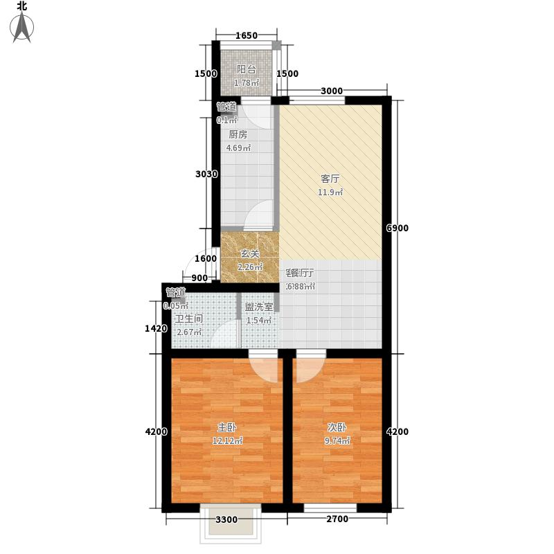 水调歌城三期79.00㎡水调歌城三期2室户型2室
