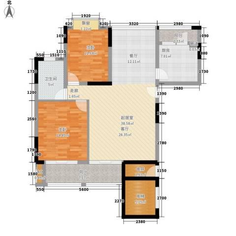 滨汾苑2室0厅1卫1厨108.00㎡户型图