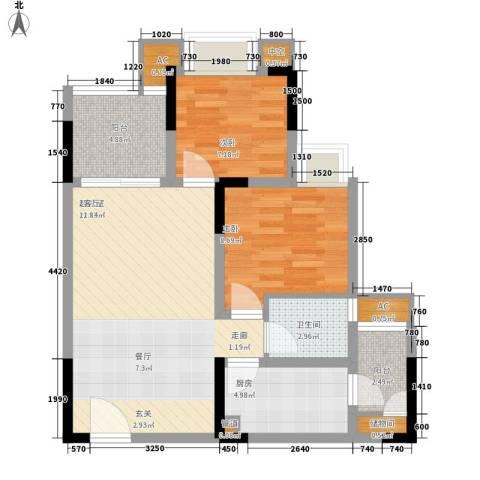 金悦湾2室0厅1卫1厨64.00㎡户型图