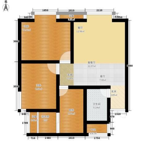 新领地2室1厅1卫1厨83.00㎡户型图