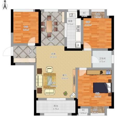 金尧首府2室1厅1卫1厨105.00㎡户型图