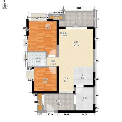 神州南都2室0厅1卫1厨84.00㎡户型图