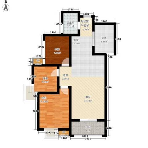 天香心苑3室0厅1卫1厨85.00㎡户型图