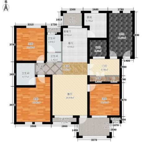 东方世纪城3室1厅3卫1厨176.00㎡户型图