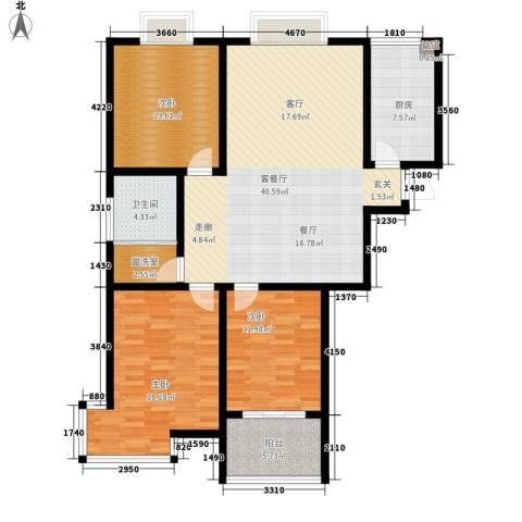 翡翠明珠3室1厅1卫1厨119.00㎡户型图