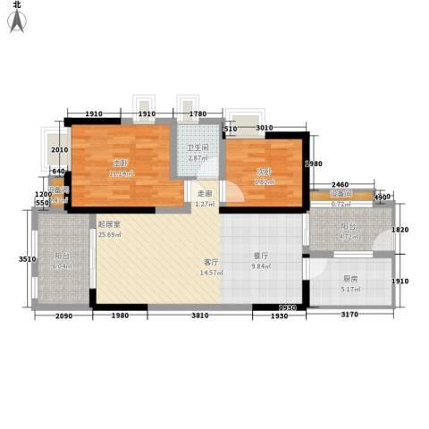 神州南都2室0厅1卫1厨89.00㎡户型图