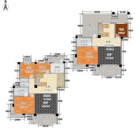 绿色晴川4室0厅3卫1厨208.09㎡户型图