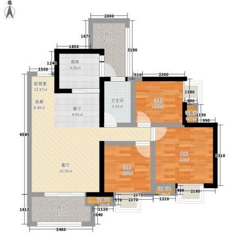 神州南都3室0厅1卫1厨104.00㎡户型图