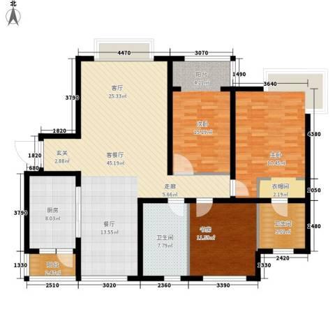 银湖馨苑3室1厅2卫1厨127.56㎡户型图