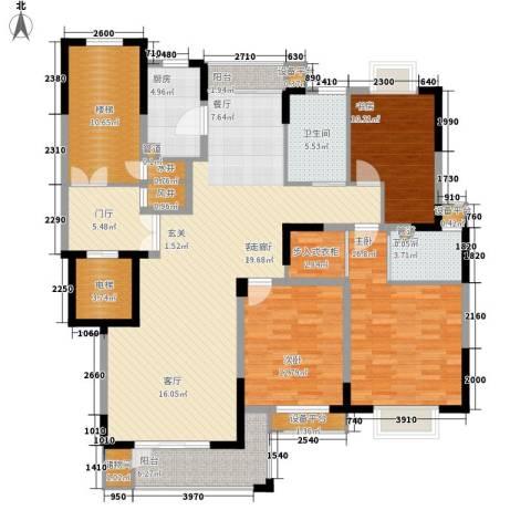 嘉业・阳光城3室1厅2卫1厨148.00㎡户型图