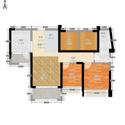 美林假日2室1厅0卫2厨86.00㎡户型图