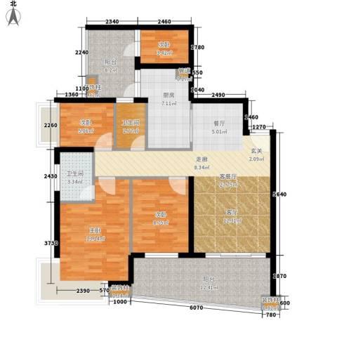 保利林语山庄4室1厅2卫1厨120.00㎡户型图