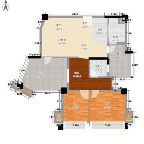 森林公园壹号2室0厅1卫1厨102.00㎡户型图