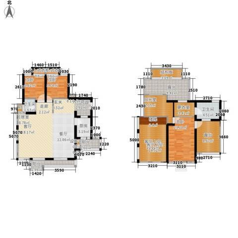同天依云郡3室0厅2卫1厨146.00㎡户型图
