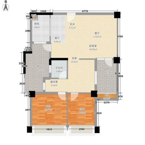 森林公园壹号2室0厅1卫1厨107.00㎡户型图