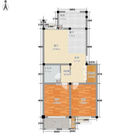 世佳欣居2室0厅1卫1厨93.00㎡户型图