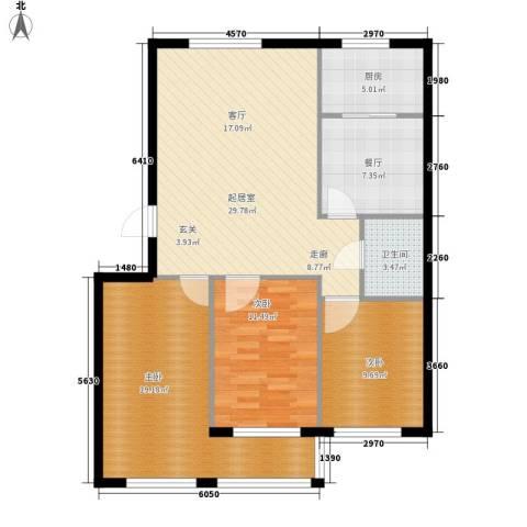 东八里小区3室1厅1卫1厨119.00㎡户型图