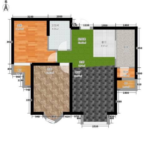 欧美风情小镇2室0厅1卫1厨94.00㎡户型图