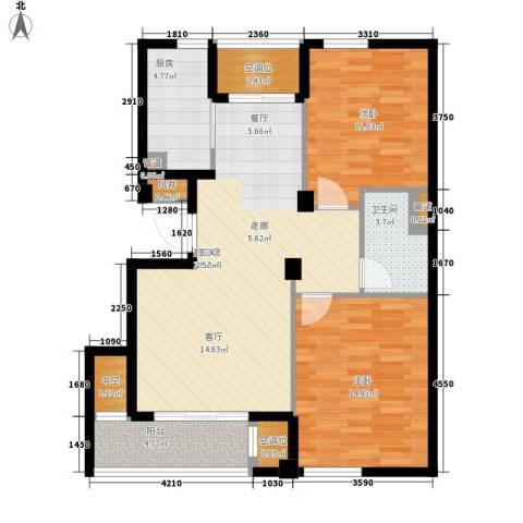 香水湾2室0厅1卫1厨85.00㎡户型图