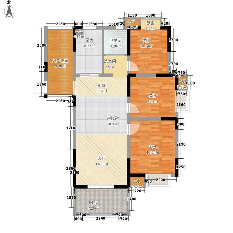 西城中央110.00㎡二期16号楼标准层C户型