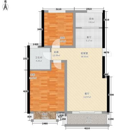 领南庄园2室0厅1卫1厨98.00㎡户型图