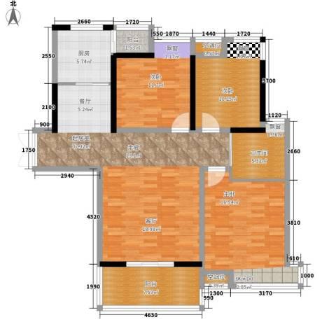 沁水新城3室0厅1卫1厨111.00㎡户型图