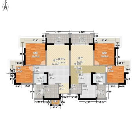 美林假日4室2厅2卫0厨140.00㎡户型图