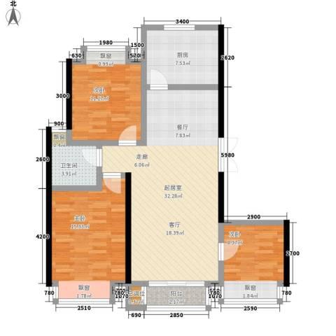 沁水新城3室0厅1卫1厨100.00㎡户型图