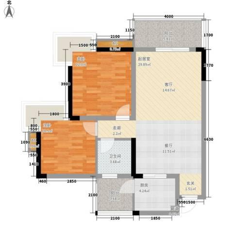 同天依云郡2室0厅1卫1厨133.00㎡户型图