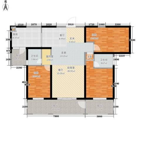 香格里拉3室0厅2卫1厨159.00㎡户型图