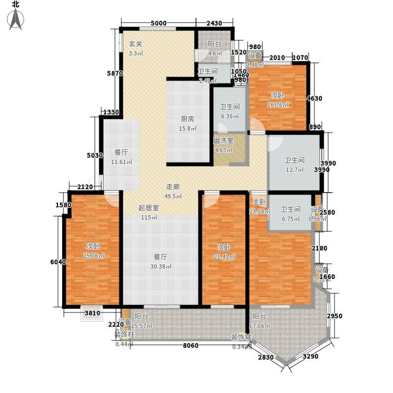 香格里拉297.00㎡香格里拉 户型图 2号楼四室两厅三卫 297平米户型4室2厅3卫